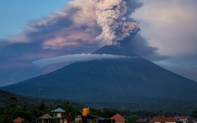 Bali Volcano and Global Warming